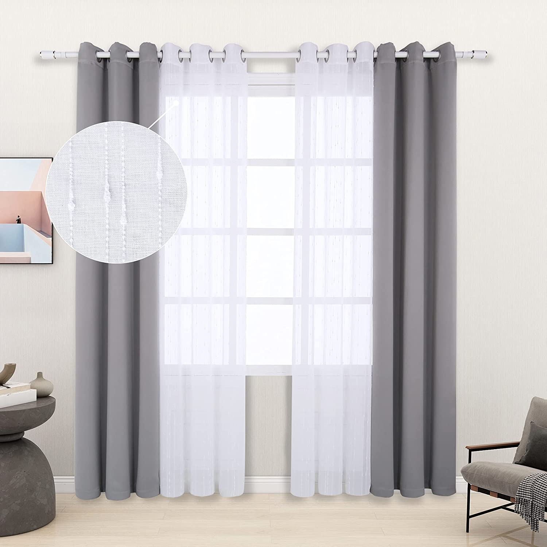 LORDTEX Mix and Match Curtain - Pieces Slub Max 63% OFF Regular dealer Textured 2 Whi Linen