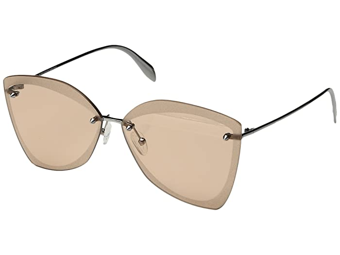 Alexander McQueen  AM0119SA (Ruthenium/Pink) Fashion Sunglasses