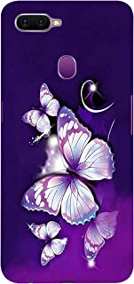 Fasheen Printed Back Case Cover for Oppo F9 Pro, Flexible Soft Silicone Rubber TPU, Print: White Purple