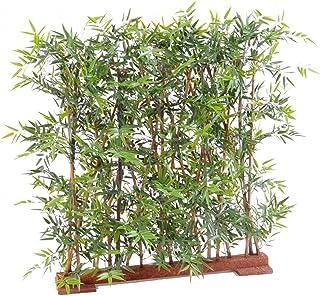 Plante Artificielle Haute Gamme Spécial extérieur/Haie Bambou Artificiel Coloris Vert - Dim : 150 x 45 x 110 cm