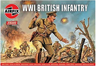 Airfix A00727V 1:76 WWI Soldier Figures 1:72nd Scale Military Figurine, (Pack of 48)