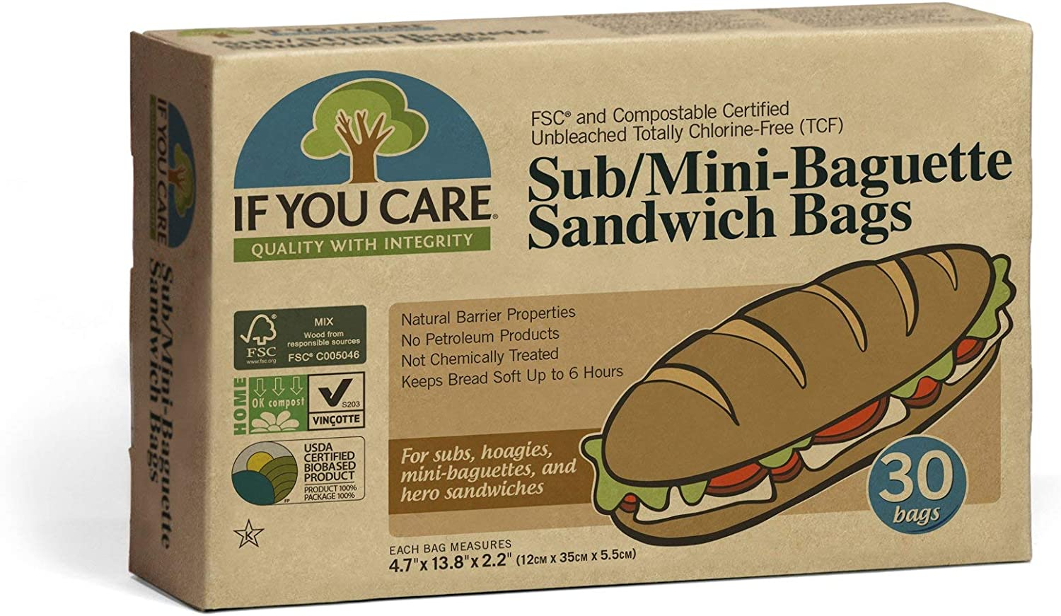 If You Year-end annual account Care Sandwich Bags for †Baguettes Hoagie Cheap mail order specialty store Subs Mini