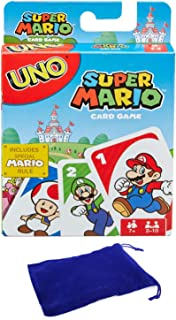 UNO Super Mario Card Game Bundle with Drawstring Bag
