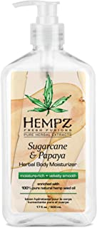 Hempz Herbal Body Moisturizer for Women with 100% Pure Hemp Seed Oil, Sugarcane & Papaya, 17 fl. oz. - Moisturizing Lotion...