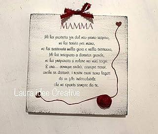 Festa della mamma a distanza - Piccola targa personalizzata in legno per la mamma - idea regalo personalizzato festa della...