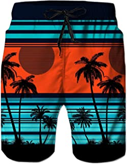 N \ A Mens Swim Trunks 3D Print Quick Dry Swimwear Summer Casual Athletic Beach Short Bathing Suits with Pockets