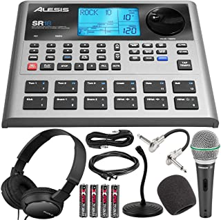 $329 » Photo Savings Alesis SR18 18 Bit Portable Drum Machine with Effects + Deluxe Bundle That Includes Dynamic Handheld Microph...