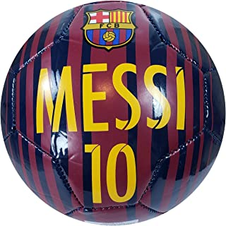 F.C. Barcelona Official Licensed Messi 10 Signautre Soccer Ball Size 2-09-1