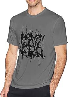 shenguang Heaven Shall Burn Camiseta de algodón con Cuello Redondo para Hombre Casual Deep Heather
