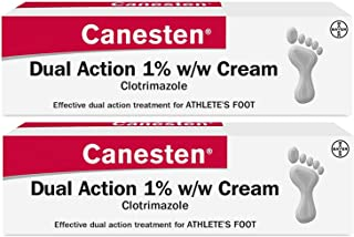 Canesten Athletes Foot Cream, Dual Action, Clotrimazole,