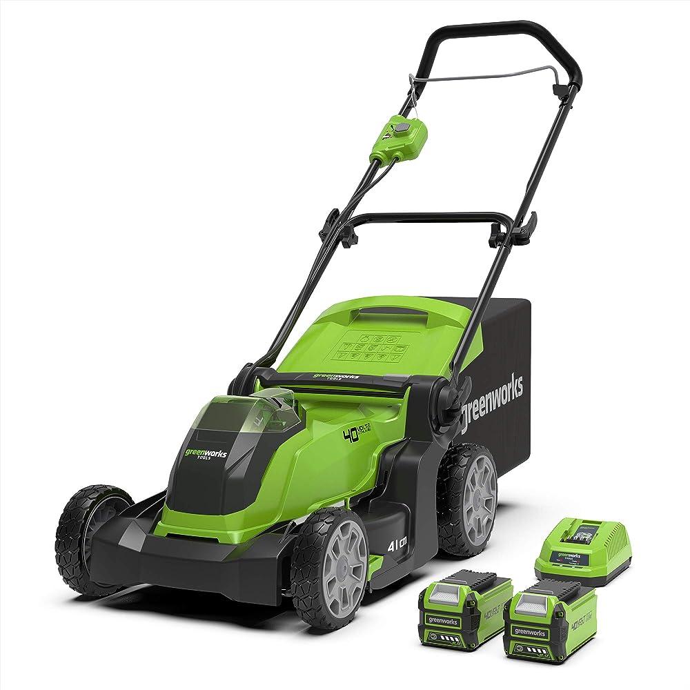 Greenworks Tools 2504707UC Cortacésped Inalámbrico, 40 V, Verde, 41cm