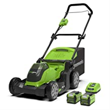 Greenworks Tools 2504707UC Cortacésped Inalámbrico, 40 V, Verde