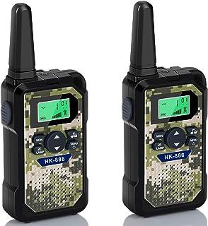 Walkie Talkies for Kids 2 Pack, 22 Channels 2 Way Radio 3 KMs Range VOX Talking with Flashlight, LCD Screen, Handheld Inte...