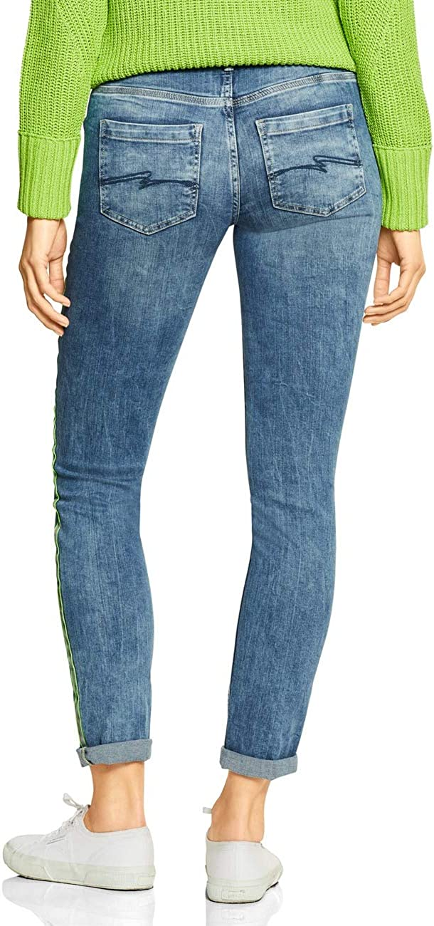 Street One Jeans Femme Mid Blue Soft Green Cast 12187