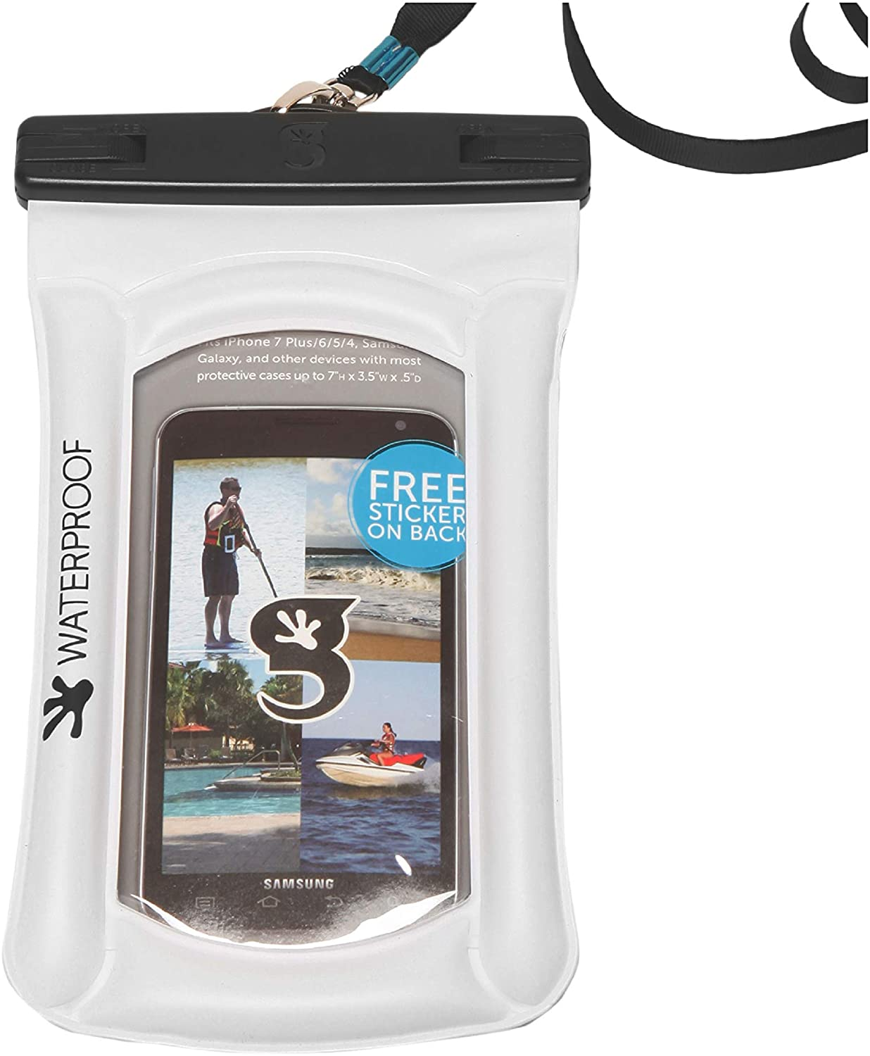 geckobrands Float Phone Dry Bag - Waterproof & Floating Phone Pouch – Fits Most iPhone and Samsung Galaxy Models, Available in 5 Colors