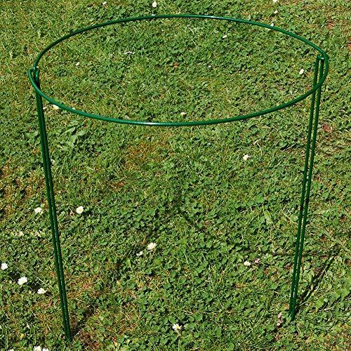 Supports de jardin solides en métal - 2 supports demi-ronds pour plantes - Système de support pour plantes - Pour pivoines, hortensias, roses - 25 x 40 cm
