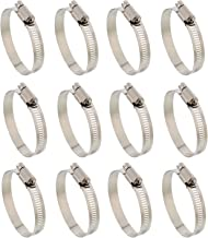 ABN Hose Clamp 12-Pack, 5/8in, Zinc Plated, 10-16mm Range – for Plumbing, Automotive, and Mechanical Applications