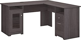 Bush Furniture Cabot L Shaped Computer Desk, Heather Gray