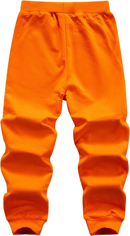 WIYOSHY Boys Solid Color Cotton Sweatpants Jogger Pants Age 3-12 Yrs