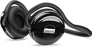 Kinivo BTH240 Bluetooth Headphones (Black, On-Ear, Wireless Music, Hands-Free Calling, Built-in Mic, Foldable, Memory Form...