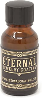 Eternal Jewelry Coating, Clear Protective Polish-on Sealant to Protect and Shield Metal and Stone Jewelry from Tarnish, Wear and Prevent Allergies .5oz