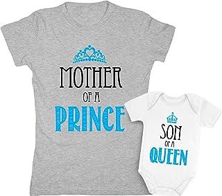 Sponsored Ad - Mother & Son Matching Set Gift for Mom Baby Boy Shower Bodysuit & Women T-Shirt