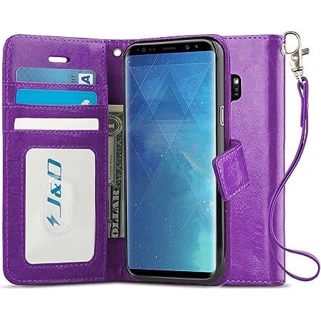J&D Funda compatible con Galaxy S9 Plus, funda tipo cartera con bloqueo RFID, ajuste delgado, resistente a los golpes, funda tipo cartera para Samsung Galaxy S9 Plus, no para Galaxy S9, color morado