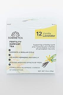 Organic Fertility Tea - USDA Certified Organic Fertility Support Tea for Women. Improve Chances of Getting Pregnant - Vanilla Lavender 12 Count