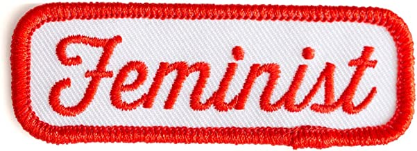 These Are Things Feminist Embroidered Iron On or Sew On Patch (Red)