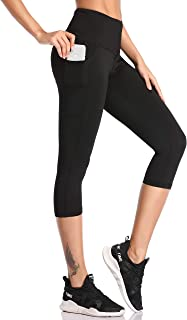 SIMIYA Womens Sports Leggings High Waist Fitness Running Tights with Pocket Slim Fit Yoga Pants Power Stretch Gym Trousers
