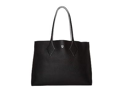 MCM Shopper Project Leather Shopper Medium (Black) Handbags