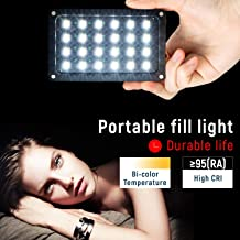 VILTROX 8W/720LM 2500K~8500K Bi-Color Rechargeable Portable Led On Camera Light, CRI 95+ Super Lightweight Studio Photography Lamp with Display Screen Diffuser USB Charging Cable