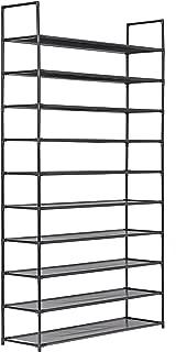 Muscle Rack SR10L-BLK 10 Level Shoe Rack, Black