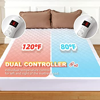 Electric Heated Queen Size Quilted Mattress Pad