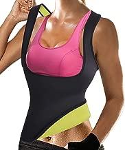 Rolewpy Women Sweat Neoprene Waist Trainer Hot Slimming Sauna Vest Tummy Control Body Shaper for Weight Loss
