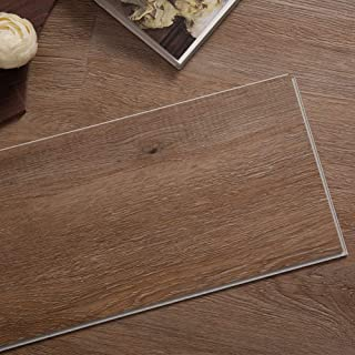 Diflart Classical Oak 23.6 sq.ft Vinyl Plank Flooring Interlocking 48x7 inch Lvt Flooring Click and Lock Waterproof Foam B...