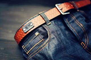 custom tooled leather belts