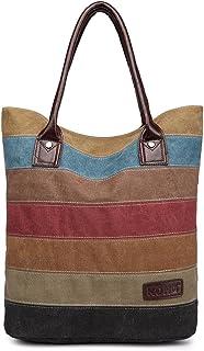Kono Shopper Tasche aus Canvas Damen Praktisch Mode