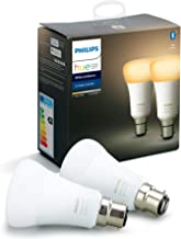 Philips Hue White Ambiance Smart Bulb Twin Pack LED [B22 Bayonet Cap] with Bluetooth, Compatible with Alexa and Google Ass...