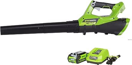 Greenworks 40V Cordless Jet Leaf Blower, 110 MPH - 390 CFM , 2.0 AH Battery Included 2400802