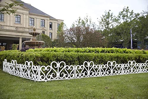 2021 Jumbl Decorative 8 Piece Scroll Metal Look Garden new arrival Border 2021 Fence sale