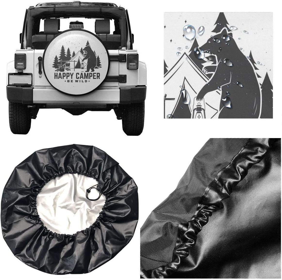 SUV and Many Vehicle 14 Inch RV Foruidea Group of in Africa Elephant Spare Tire Cover Waterproof Dust-Proof UV Sun Wheel Tire Cover Fit for Jeep,Trailer