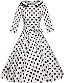 GownTown Womens Dresses 1950s Vintage Swing Stretchy Dresses