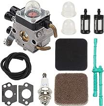Mckin FS80R C1Q-S97 Carburetor Parts fits Stihl FS80 FS75 FS85 FS85R FS85T Trimmer Weed Eater Replace # C1Q-S66 C1Q-S71 C1Q-S186 with Air Filter Tune Up Kit
