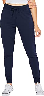 esstive Women's Ultra Soft Fleece Basic Midweight Casual Terry Relaxed Fit Joggers
