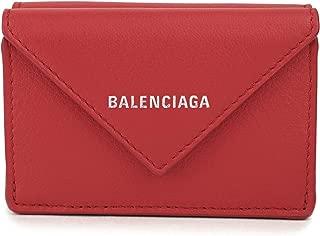 バレンシアガ(BALENCIAGA) 3つ折り財布 391446 DLQ0N 6524 パピエ レッド 赤 [並行輸入品]