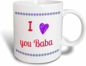 3dRose RinaPiro - اقتباسات - I love you baba, grandmother grandma - مج, 11 oz