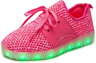 LakeRom led Shoes for Kids Girls Sneakers Light Up Toddler boy Shoes LRLED07925-Pink3-36