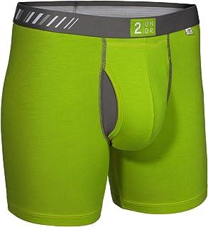 2Undr Men's Swing Shift Boxer Brief, Green/Grey, X-Large