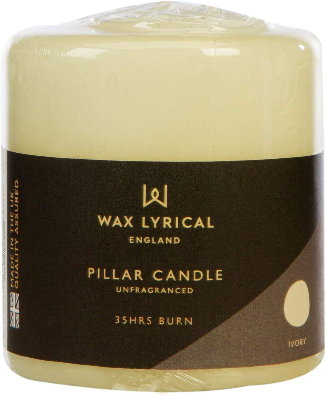 Wax Cheap mail order specialty store Lyrical Unscented Pillar Candle 7 cm 8 Ivory Alternative dealer 8cm x